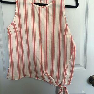 NWT Madewell asymmetrical sleeveless tied shell